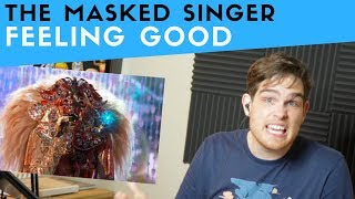 Vocal Analysis of Lion from Masked Singer Singing Feeling Good (Voice Teacher Reacts)
