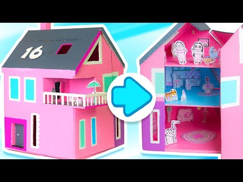 How to make a Dollhouse that Opens & Closes | DIY Cardboard Houses with Paper Toys | Box Yourself