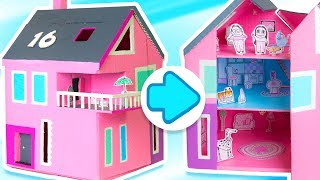 Video How to Make a Dollhouse that Opens & Closes | DIY Cardboard Houses on Box Yourself download MP3, 3GP, MP4, WEBM, AVI, FLV September 2018