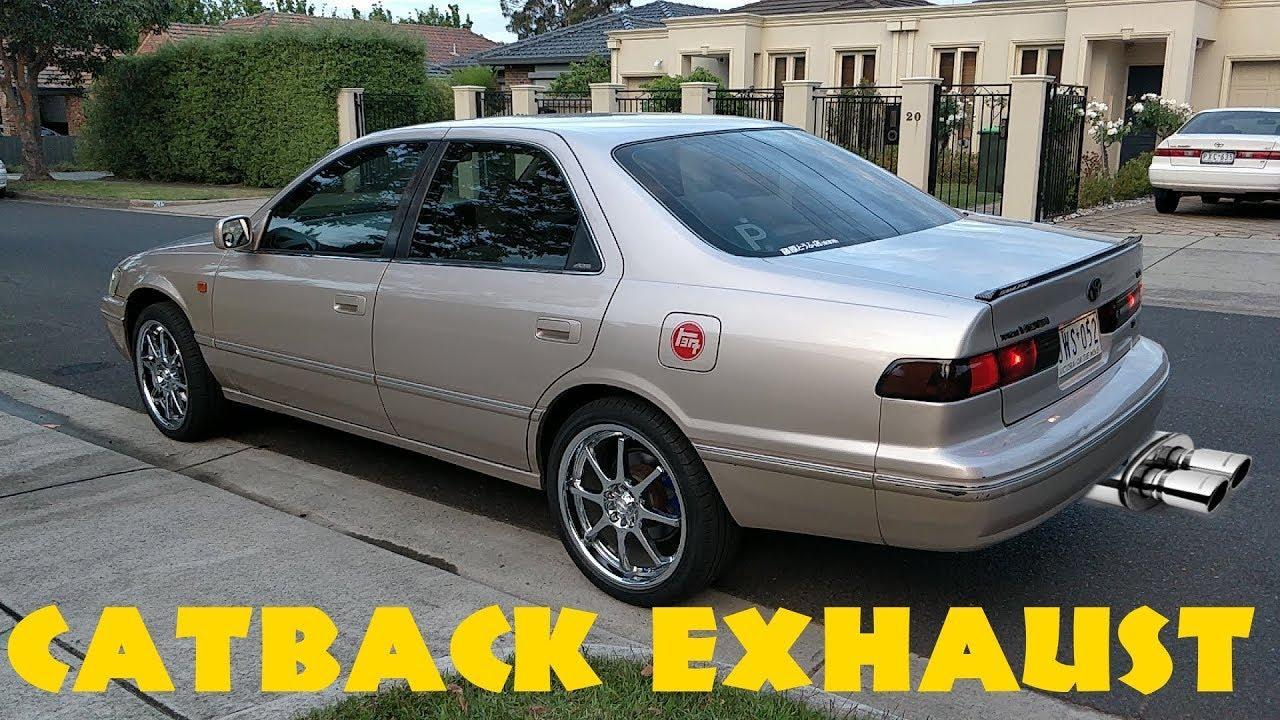 catback exhaust toyota camry v6 1998 sports muffler youtube catback exhaust toyota camry v6 1998 sports muffler