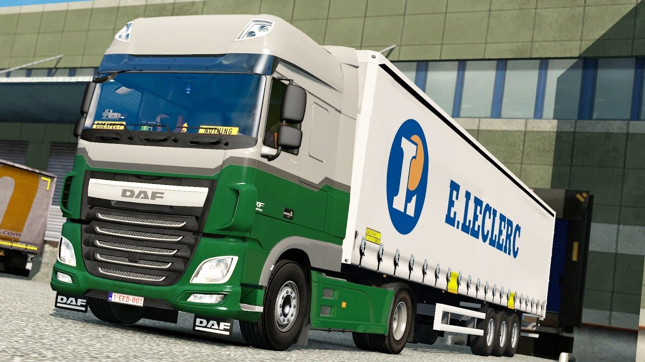 ets 2 open beta daf xf106 reims lille youtube