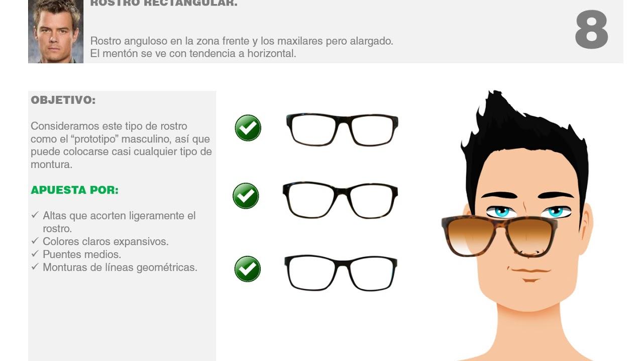 Hombres Gafas Ideales Para Rostros Rectangulares Youtube