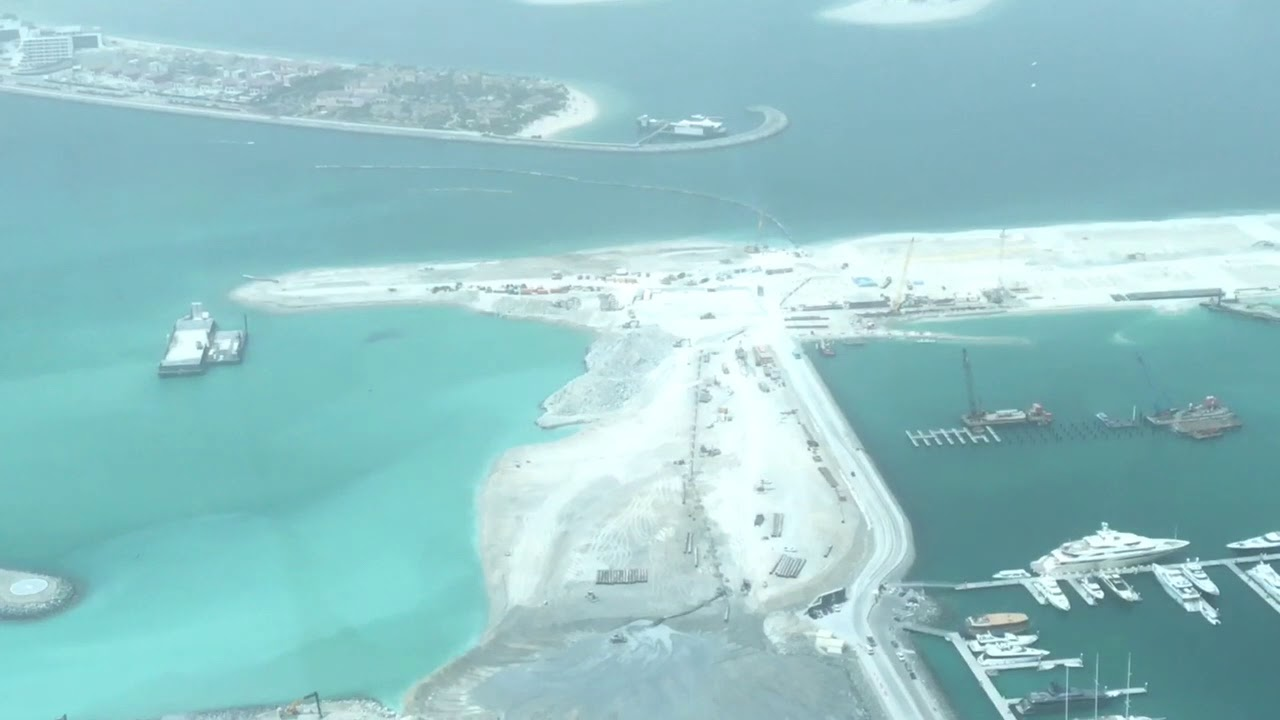 Dubai Mega Projects: Dubai Harbour by Meraas Construction view from  Princess Tower