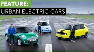 City Electric Cars. Mini Electric, Honda e, Fiat 500 E. More urban than Tesla