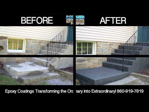 Epoxy concrete resurfacing Cheshire CT Epoxy Coating Liquid Stone Finishes