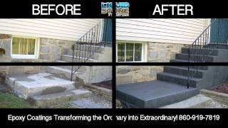 Epoxy concrete resurfacing Cheshire CT Epoxy Coating Liquid Stone Finishes