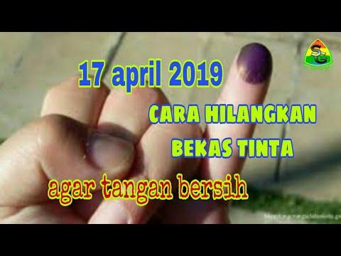 cara menghilangkan bekas tinta coblos pada pilpres 2019 dan pemilu 2019
