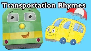 Freight Train and More Transportation Rhymes   Nursery Rhymes from Mother Goose Club!