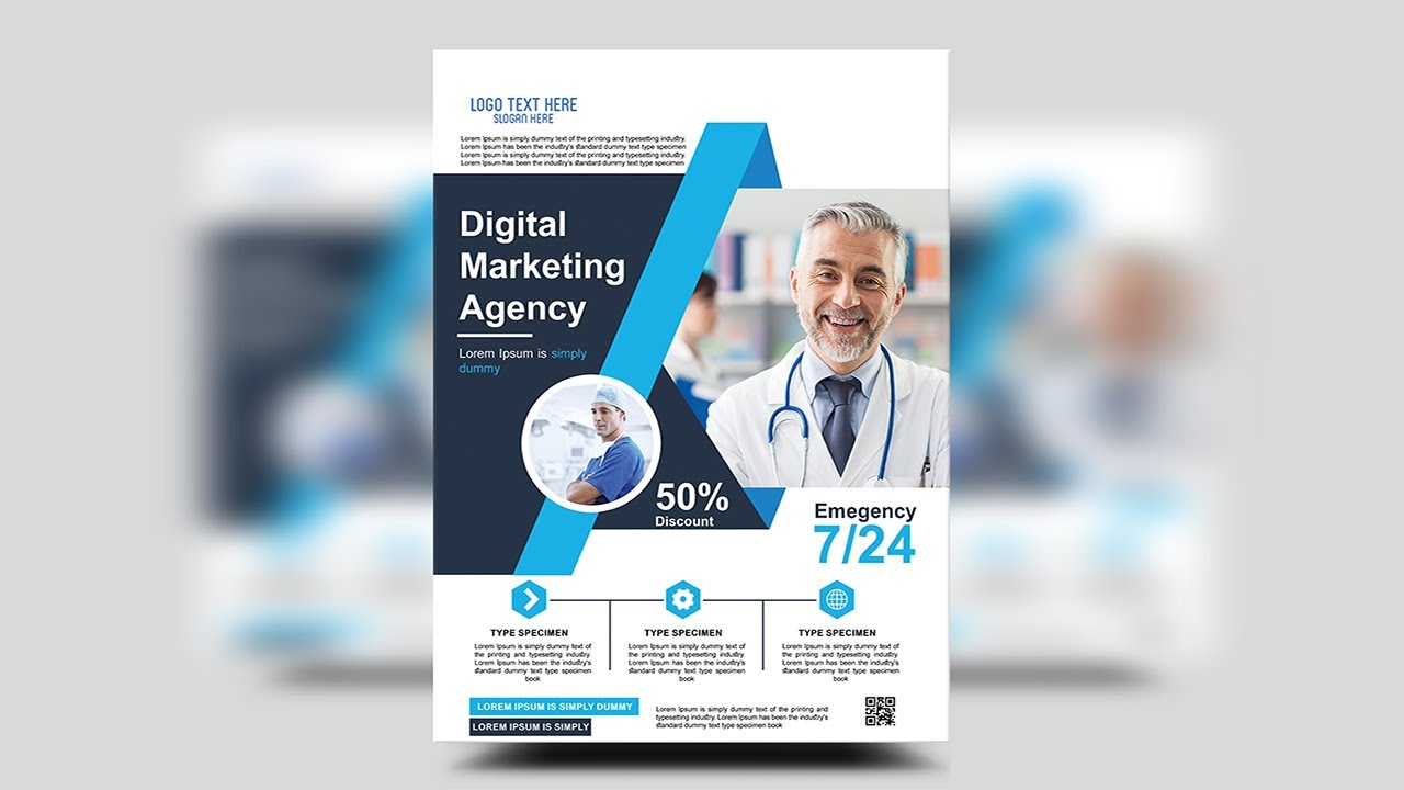 Health & Medical Doctors Flyer | Photoshop Tutorials