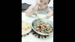 Funny baby in the world 😂 😂