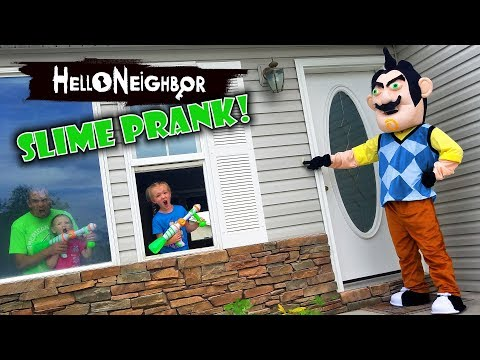 Hello Neighbor in Real Life! Slime Prank GONE WRONG on Real Life Hello Neighbor!!! thumbnail