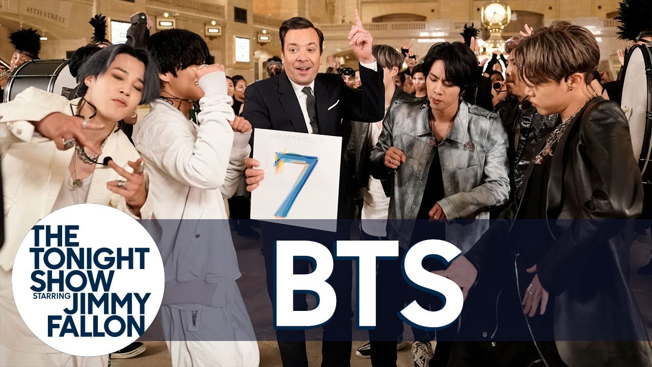 Download Jimmy Says Goodnight with a BTS Dance Party | The Tonight Show