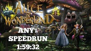 Disney's Alice In Wonderland| PC | 1080p 60 fps | Any% Speedrun | World Record | 1:59:32 | W/Loads