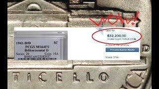 1942 D over Horizontal D Jefferson Nickel!   Variety Quick Look!!