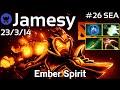 Jamesy plays Ember Spirit!!! Dota 2 7.20