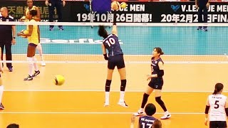 バレーボール韓国女子代表の スパイク練習・スローモーション再生バージ...