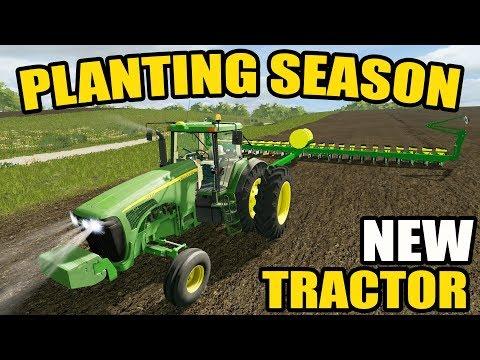 FARMING SIMULATOR 2017   JOHN DEERE 8220 LOOKIN' GOOD ON THE PLANTER   SPRING PLANTING   EP #38