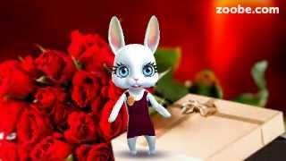 Zoobe Зайка .Поздравление с Днём Рождения