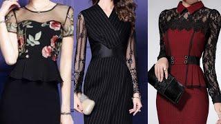 beautiful slim bodycon midi dress style for women's