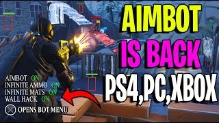 AIMBOT For Ps4, Xbox, PC Is BACK Fortnite Battle Royale! (Infinite Mats, Infinite Ammo, God Mode)