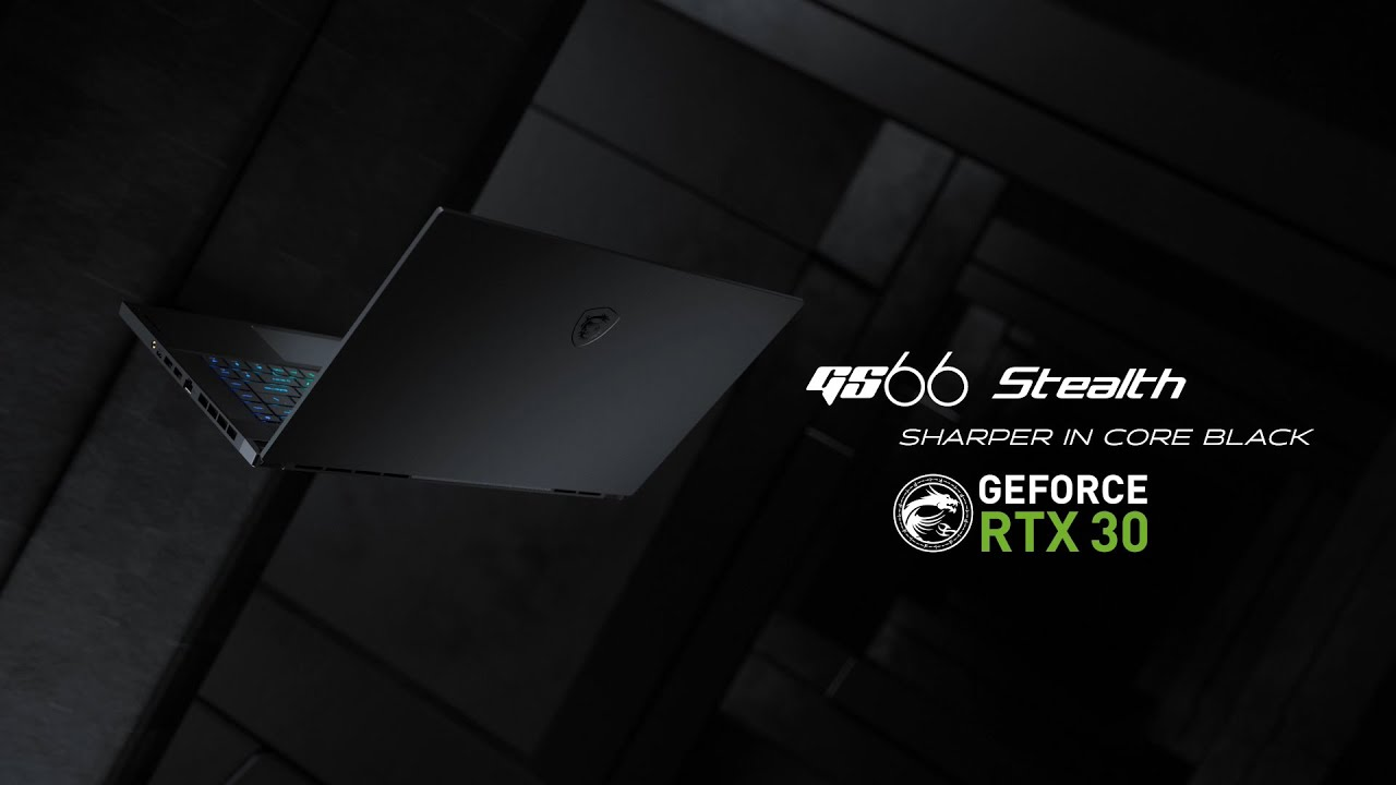 The New GS66 Stealth 10UX - Sharper in Core Black | MSI