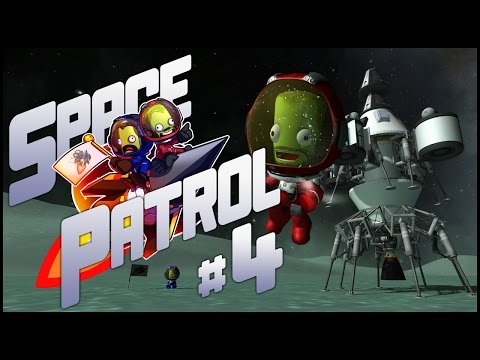 "Space Patrol #4 - ""Bouncing Around Minmus"" - modded Kerbal Space Program"