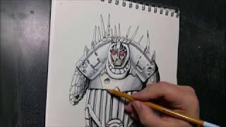 Drawing the Mondoshawan from the 5th Element