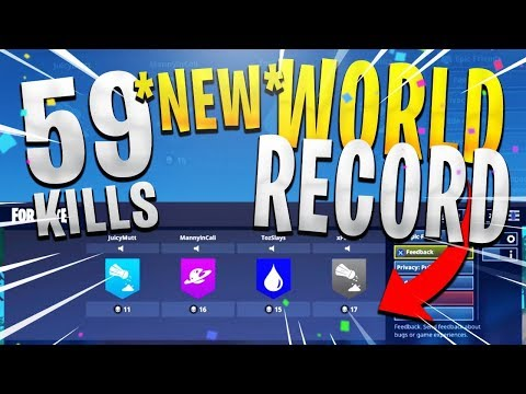 *NEW* WORLD RECORD 59 SQUAD KILLS - INSANE GAMEPLAY! (Full Match) - Fortnite Battle Royale