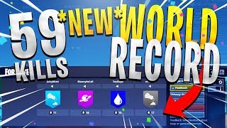 *NEW* WORLD RECORD 59 SQUAD KILLS - INSANE GAMEPLAY (Full Match - Fortnite Battle Royale MOST KILLS)