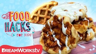 3 Waffle Hacks You HAVE To Try! | FOOD HACKS FOR KIDS | Cook #withme