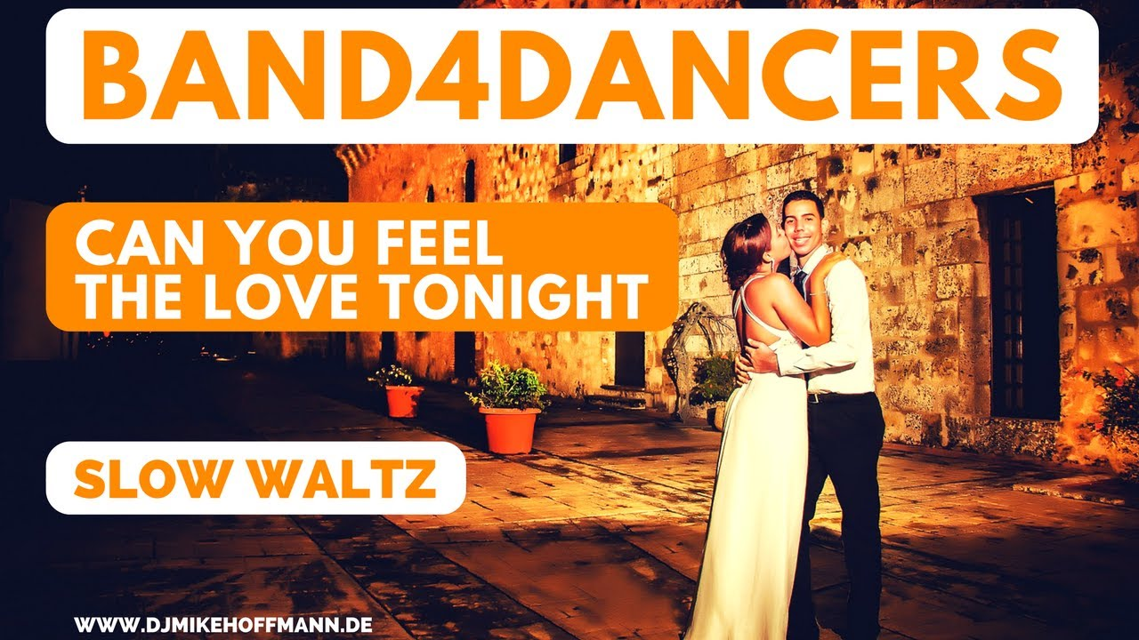 Band4dancers can you feel the love tonight slow waltz for wedding dance walzer hochzeit