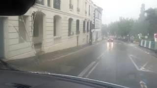 Orcines et Royat (Puy-de-Dôme) sous un déluge d'eau, le 24 juin 2016
