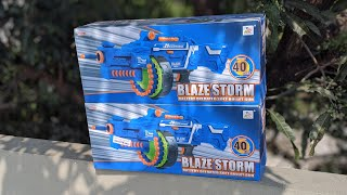 BLAZE STORM Battery operated soft Bullet Gun toy Unboxing and Trial Abbie 39 s Toy World