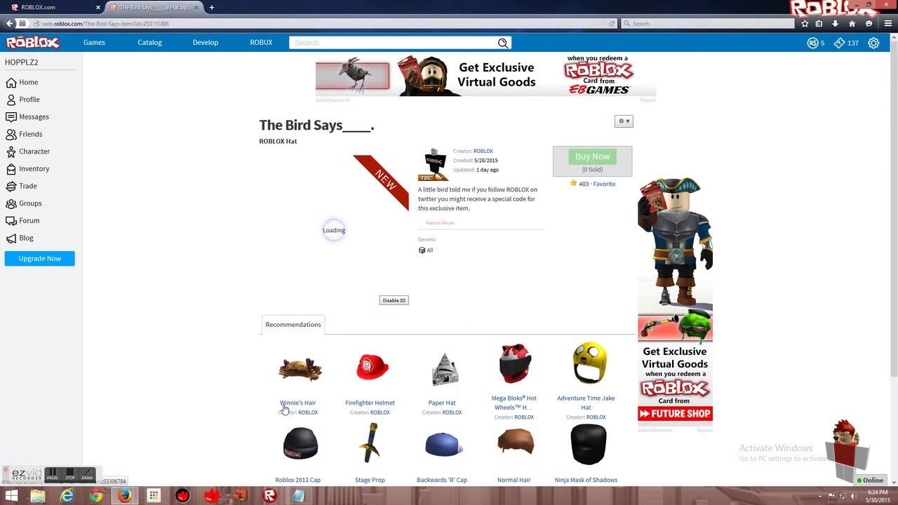 Roblox Blue Bird Promcode Works Youtube
