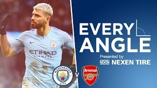 EVERY ANGLE | Sergio Aguero vs Arsenal