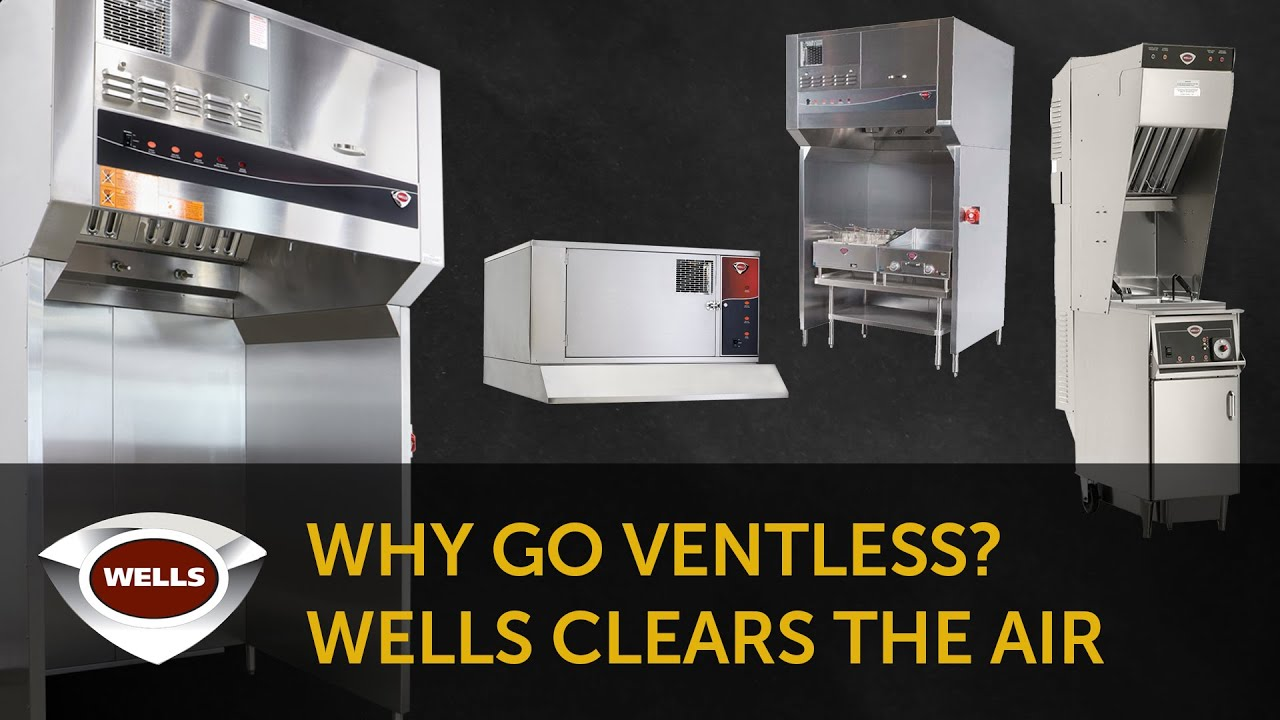 Wells WVU-31CT Universal Countertop Ventless Exhaust Hood - Stainless Steel