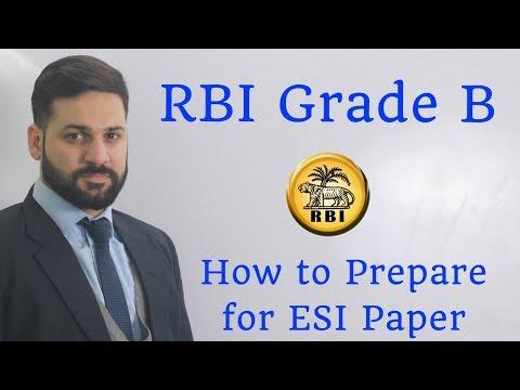 RBI Grade B - How To Prepare For ESI Paper