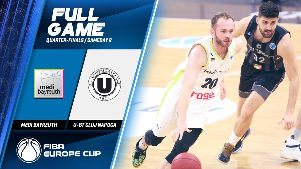 medi Bayreuth v U-BT Cluj Napoca - Full Game - FIBA Europe Cup 2019