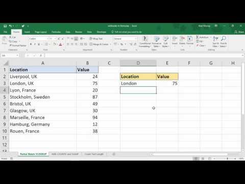 Excel Wildcard Characters in Formulas