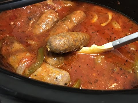 Foodie Friday - Italian Sausage In The Crock Pot!