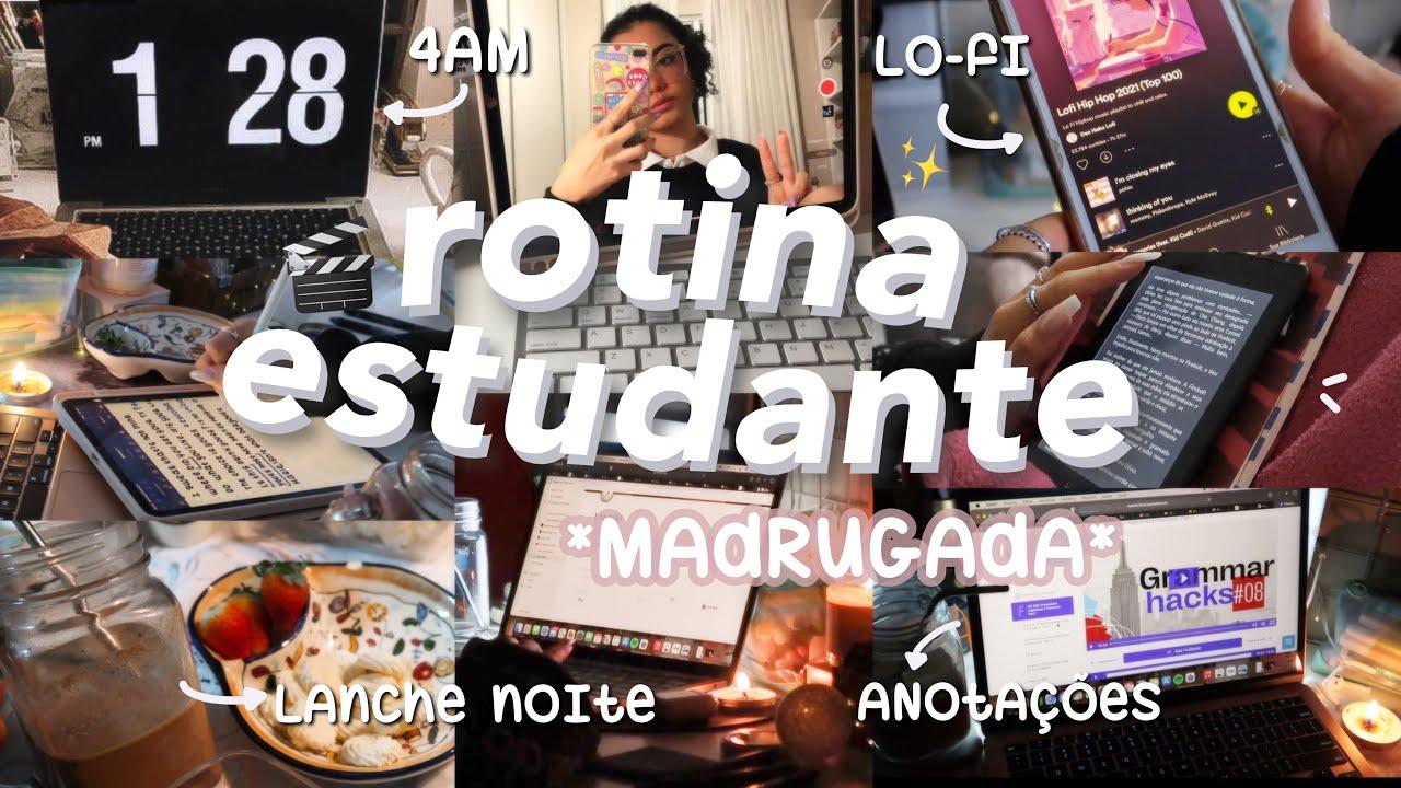rotina de estudante: *4am* madrugada ✨| leituras, revisões, surtos & estudos 💭