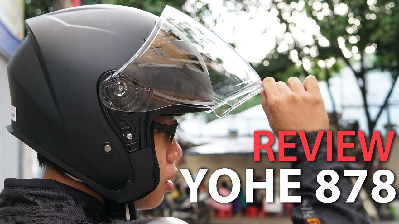 Review nón 3/4 Yohe 878 – Mũ 3/4 gọn nhẹ đi phố, đi tour gần