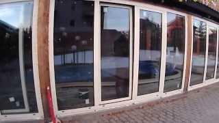 видео Остекление веранды алюминиевым профилем