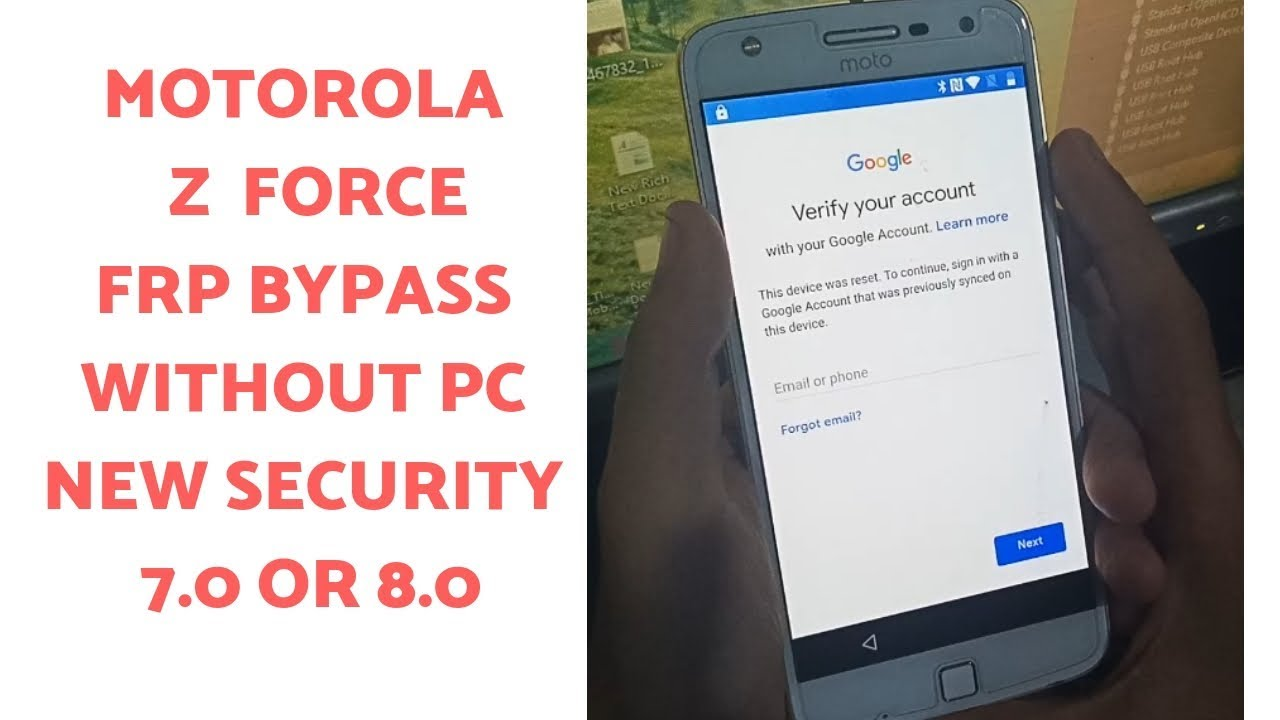Motorola Z Force Google Account Bypass WITHOUT PC  7 0 OR 8 0 | mobile cell  phone |