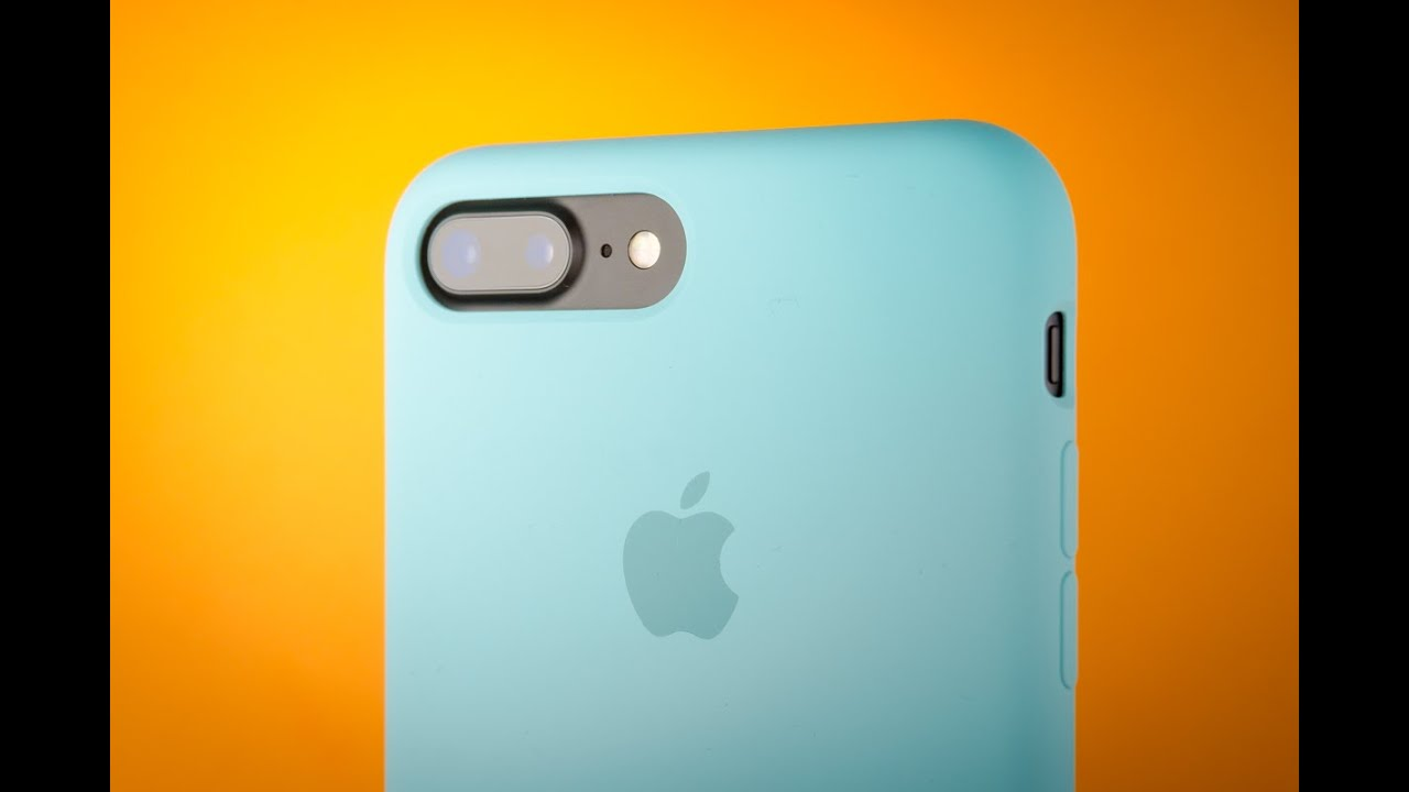 iphone 7 plus silicone case blue