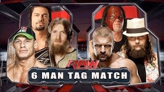 WWE RAW 2014 - Daniel Bryan, John Cena & Roman Reigns vs Triple H, Bray Wyatt & Kane - Full Match HD thumbnail