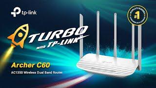 TP-Link Archer C60 AC1350 Wireless Router WiFi Speedtest