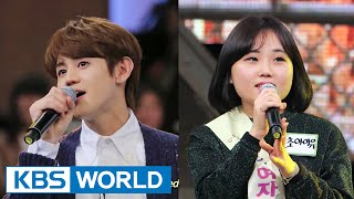 "[Short Clip] YoSeob(BEAST) sings duet with tone-deaf girl on ""Yu JaeSeok"