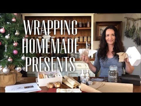 HOME MADE GIFT IDEAS - No Plastic Gift Wrapping