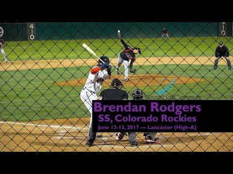 Brendan Rodgers, SS, Colorado Rockies — June 12-13, 2017